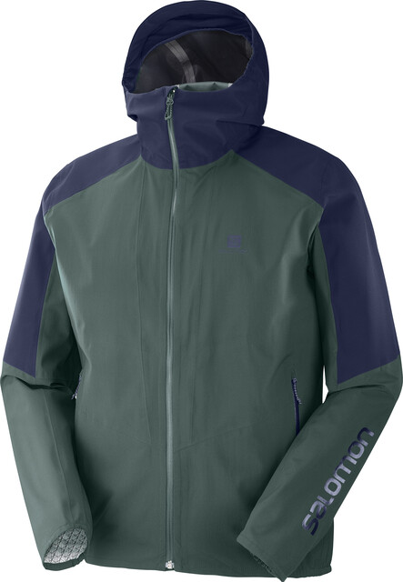 Salomon Outline Jacket Herre green gab